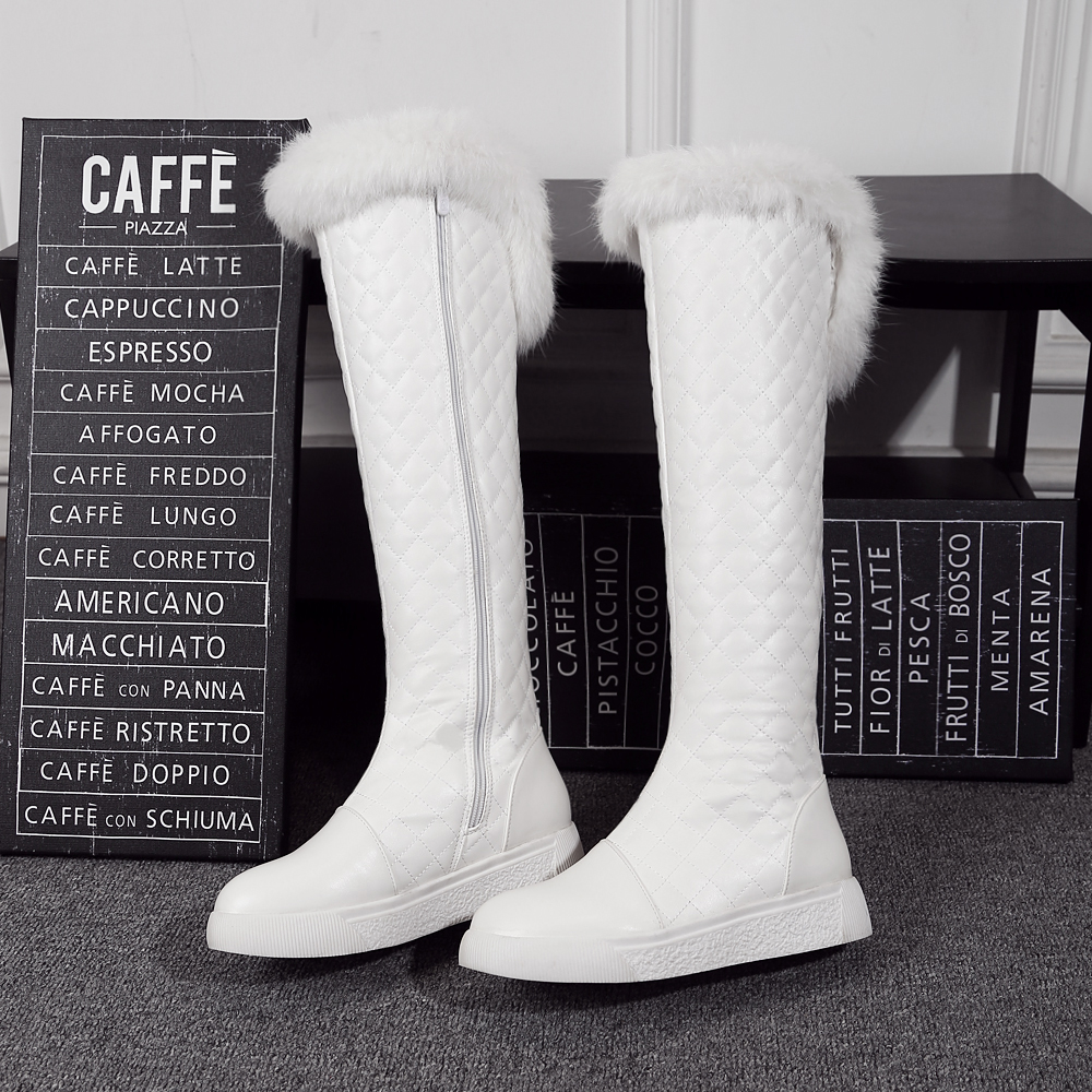 The Cheapest Price Nemaone 2019 Cotton Fashion Waterproof Snow Boots Womens Knee High Boots Flat Winter Boots Platform Fur Shoes Women White Office & School Supplies