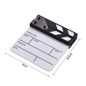 Image 3 - Acrylic Generic Slate Cut Prop Clapper Board 16.5*15 Video Scene Role Play Dry Erase Director TV Movie Action Film Clapperboard