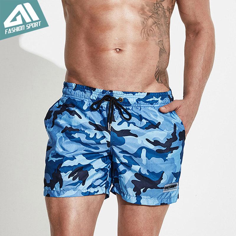 Desmiit Camouflage Pánské šortky letní Beach Surfing Pánské koupací šortky Athletic Sport Gym Running Workout Shorts DT76