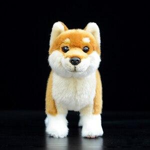 Image 2 - 20cm Japanese Shiba Inu Plush Toys Kawaii Simulation Yellow Dog Stuffed Animal Dolls Soft Toys For Children Gifts