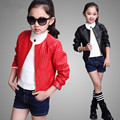 Kids Clothes 2017 New Girls Coats and Jackets Children Clothing Spring Leisure Jacket Fashion Girls Leather Jacket 3-15T