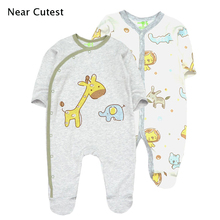 Near Cutest 2pcs/lot Baby Romper Cotton Full Body Girl Boy Clothes Infant Overalls Newborn Clothing Product