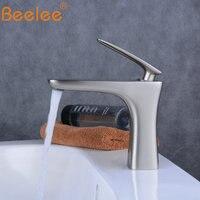 Beelee Bathroom Taps Mixer Nickel Faucet Top Sink Tap Mono Basin Mixer Faucet Cloakroom Faucets BL6609N