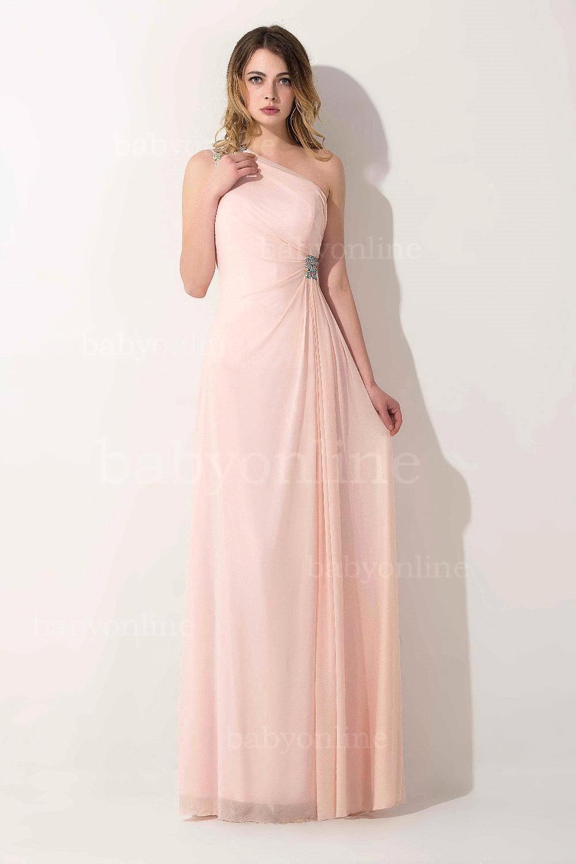 Naranja / rojo / rosa elegante de la gasa largo Prom vestidos ...