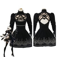 NieR:Automata 2B Cosplay Costume dress Suit Outfit Gown For Halloween Carnival Party Custom Made