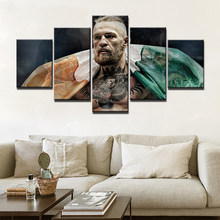 Posters and Prints Painting boxing Pictures Wall Art for Living Room Home Decor Canvas Art 5 Piece Set Framed(China)