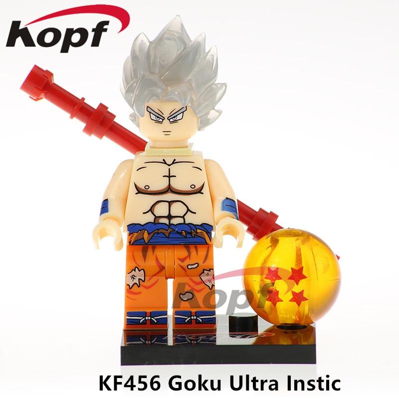 KF456 Single Sale Super Heroes Bricks Dragon Ball Z Building Blocks Figures Goku Ultra Instic Majin Buu GohanToys For Children