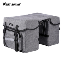 WEST BIKING 25L Bicycle Bags MTB Bike Rear Bag bolsa bicicleta Rear Seat Trunk Bag Bicycle Pannier Luggage Carrier Cycling Bags rockbros bicycle rear seat cycling pannier bags bike bag rear carrier bag rear pack trunk pannier bicycle rain cover bags