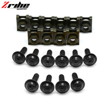 for Universal The fairing of the motorcycle speed screws clip spring screw nut clamps For APRILIA RS 125 DORSODURO 1200