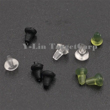 50PCS Clear Black Green Carp fishing hook stoper holder Rubber plastic pop up rig Shank Beads accessories of fishing lures china
