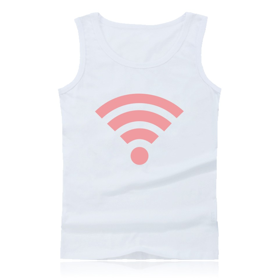 Funny Free WiFi Sleeveless Bodybuilding   Tank     Top   Summer Fashion White   Tank     Top   Men Casual Plus Size 4XL High Quality Trendy Vest