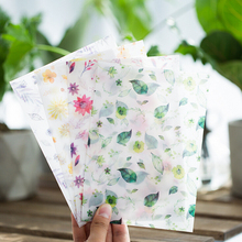 8 pcs/pack Four Seasons Flowers Translucent Envelope Message Card Letter Stationary Storage Paper Gift(China)