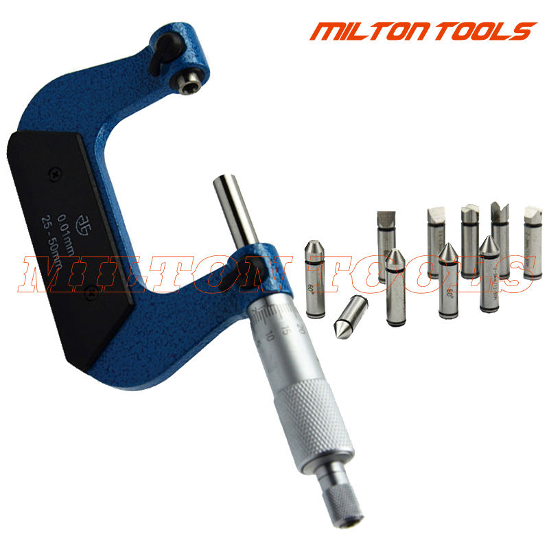 0 25mm Screw Thread Micrometers thread micrometer caliper including measuring anvils