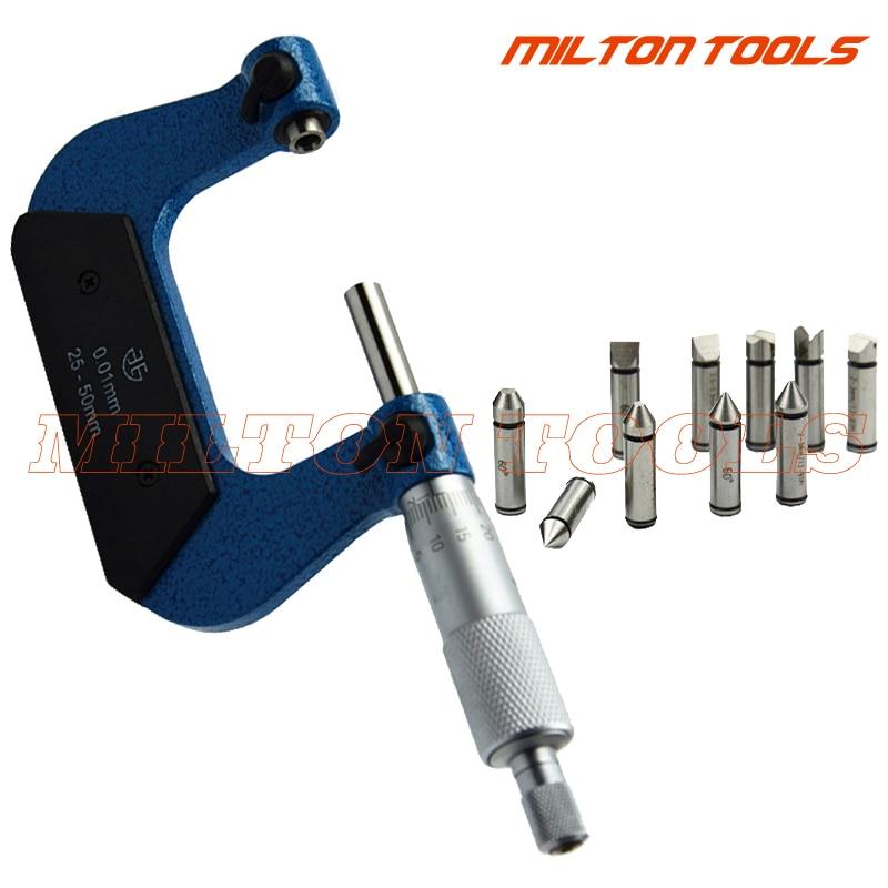 0 25mm Screw Thread Micrometers thread micrometer caliper including measuring anvils