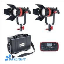 2 Pcs CAME TV Q 55W Boltzen 55w High Output Fresnel Focusable LED Daylight Kit Led video light