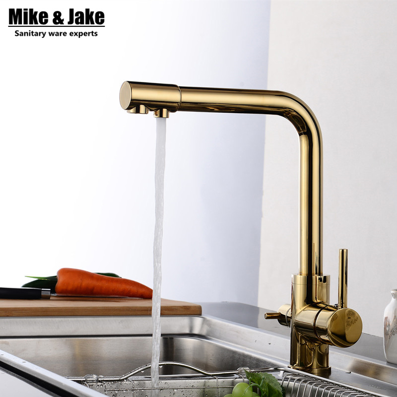Golden color 3 way kitchen faucet pure water kitchen faucet 3 way function Kitchen mixer water filter mixer tapGolden color 3 way kitchen faucet pure water kitchen faucet 3 way function Kitchen mixer water filter mixer tap
