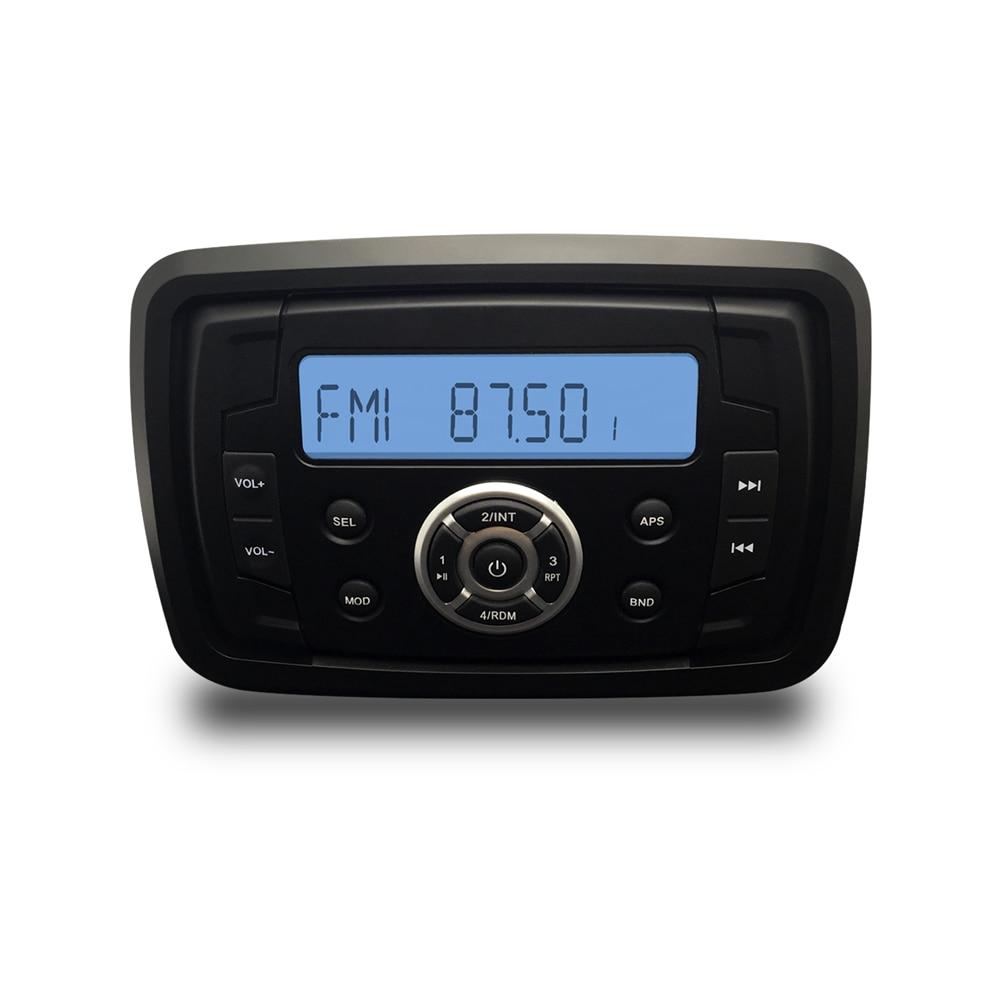 Marine Stereo Boat Audio Motorcycle Radio RV Car Bluetooth Sound System Waterproof ATV AM FM USB