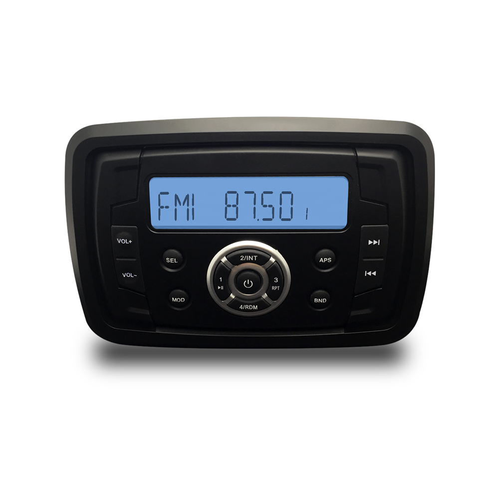 Marine Stereo Boat Audio Motorcycle Radio RV Car Bluetooth Sound System Waterproof ATV AM FM USB MP3 Player RZR Golf Cart AUX-in Car MP3 Players from Automobiles & Motorcycles    1