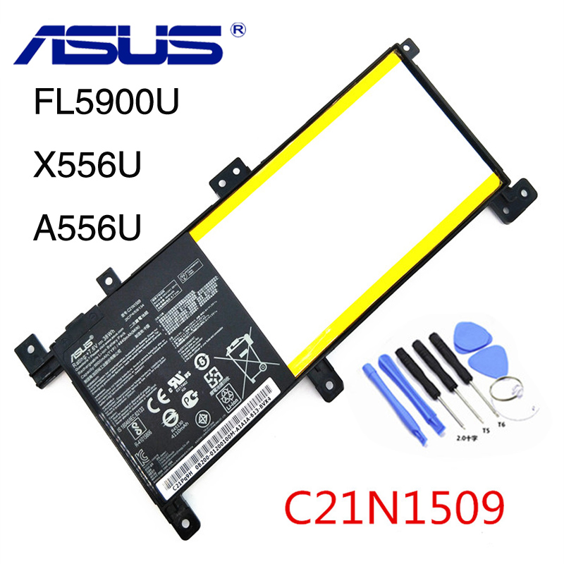 Original Asus C21N1509 Batterie Pour ASUS X556U X556UA X556UB X556UJ X556UQ X556UV FL5900U 5000 mAhOriginal Asus C21N1509 Batterie Pour ASUS X556U X556UA X556UB X556UJ X556UQ X556UV FL5900U 5000 mAh