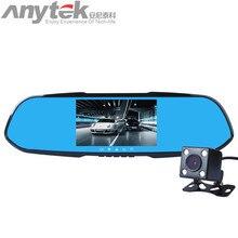 Оригинальный Anytek X7 Двойной объектив Авто видеорегистратор Камера автомобиля видео Регистраторы Зеркало заднего вида 1080 P G-Сенсор обнаружения движения регистраторы