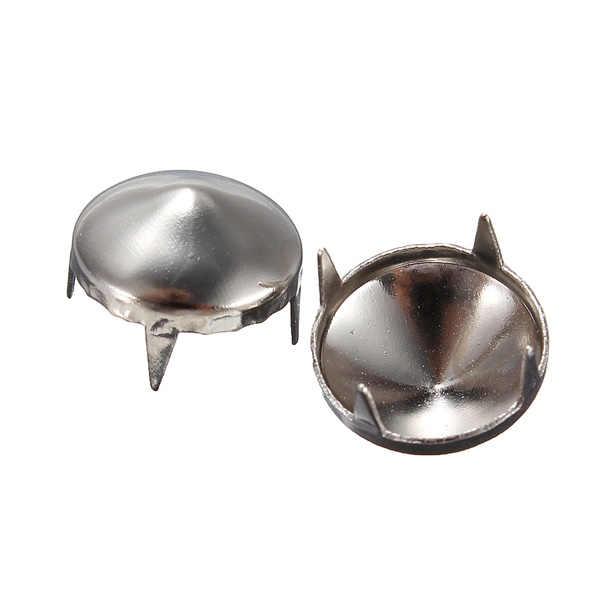 10 piezas DIY Punk Rock Nailhead plata Domo redondo remaches punta cuero artesanía para Zapatos Ropa bolsa piezas decoración 5 /6/10/12mm