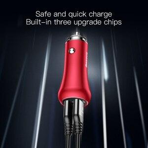 Image 3 - Baseus qc 3.0 carregador rápido turbo usb carregador de carro 3.0 duplo usb metal carro carregador do telefone móvel para iphone samsung huawei carregador