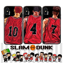 Phone Case for iPhone X XS MAX XR 6 6S 7 8 Plus Slam Dunk Basketball Jersey Pattern Silicone TPU Soft Case Cover Coque стоимость