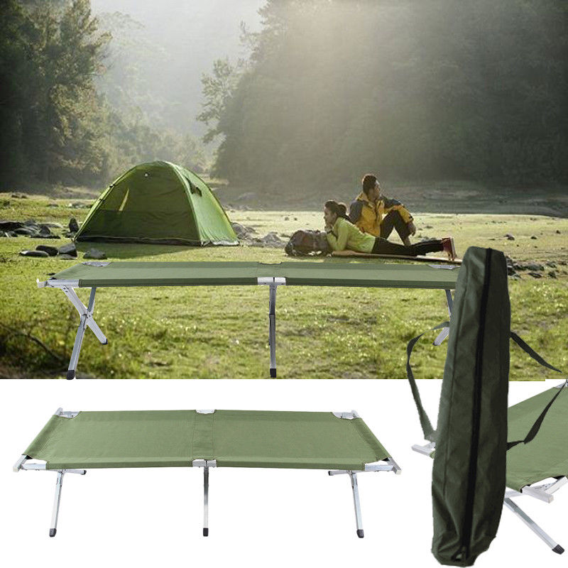 (Ship from EU) Camping Mat Portable Folding Bed Cot Sleeping Loungers Portable Outdoor Travel Camp bed