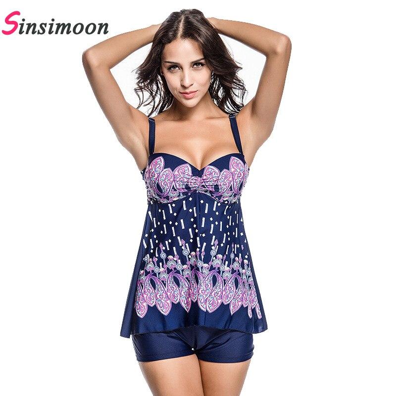 2019 Elbise Mayo Etek mayo Tek parça mayo Çiçek Baskı Mayo Kadın - Spor Giyim ve Aksesuar - Fotoğraf 5