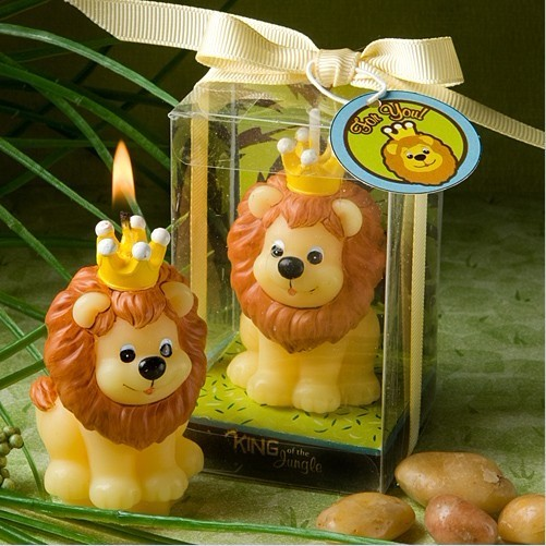Children Birthday Party Creative Smokeless Cartoon Lion King Small Scented Making Candle Wedding Decoration Souvenir Accessory