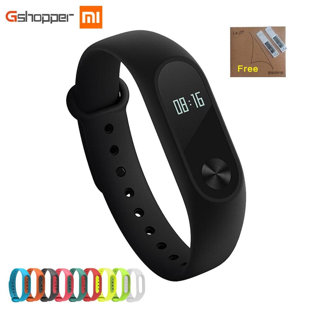 RU Originale Xiao mi mi fascia 2 Wristband opzionale Cinghie Colorate IP67 Impermeabile INTELLIGENTE Banda Heart Rate Monitor Di Sonno tracker