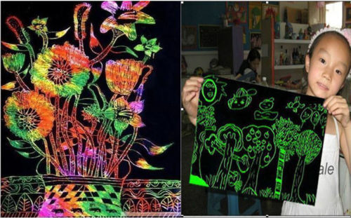 10-Sheets-16K-Colorful-Magic-Scratch-Art-Painting-Paper-With-Drawing-Stick-Gift-4