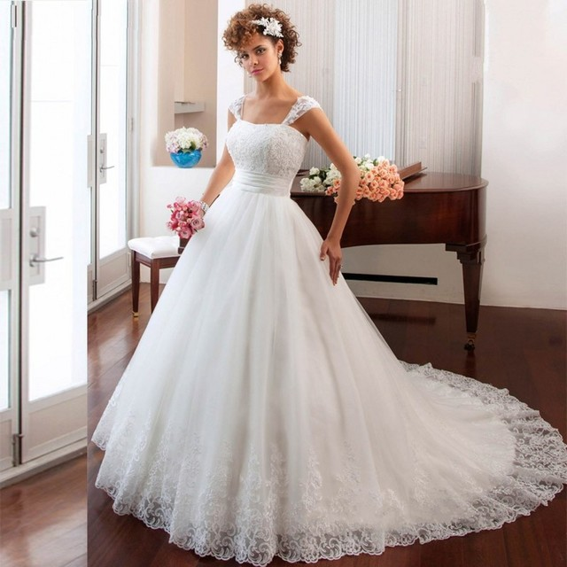 Elegant Lace Tulle Wedding Dresses Simple Design 3 4 Lace: Aliexpress.com : Buy 2016 New Arraival Simple Wedding