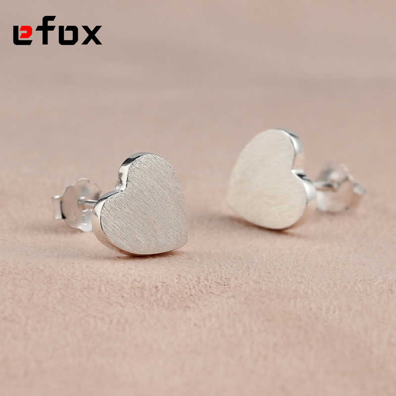 19 Style New Fashion Tiny Cute Little Heart Silver Stud Earrings for Women Girls Gifts Simple Elegant Party Earring