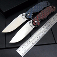 Newest RAT Folding Blade Knife D2 Steel Blade Carbon Fiber Handle Tactical Knife Survival Camping Knives