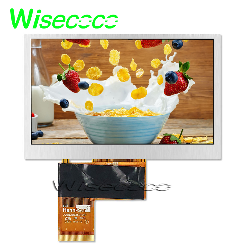 4.3inch 480x272 tft lcd screen panel HSD043I9W1-A00 fit for Portable Navigation Pocket TV lcm display image