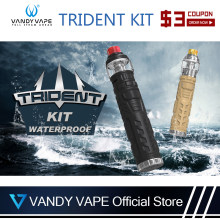 Original Vandy VapeTrident Kit with 3-5ml Capacity Tank vandyvape Mod Mesh Coil Waterproof Electronic Cigarette(China)