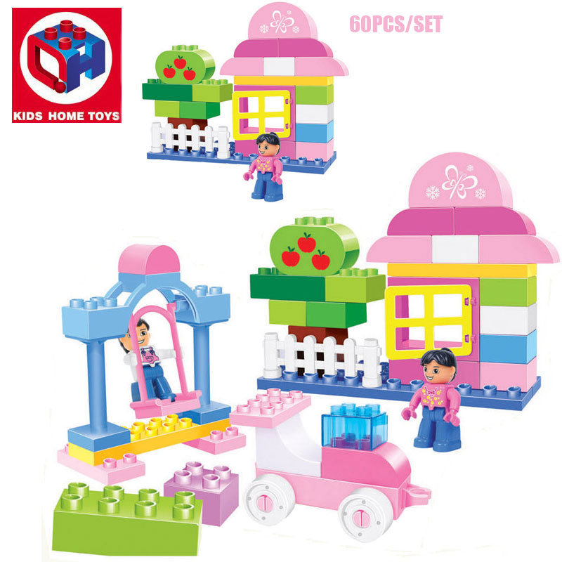 Popular lego duplo pink buy cheap lego duplo pink lots for Modele maison lego duplo