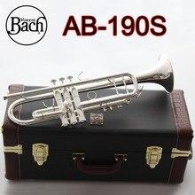 Американский Бах AB190S труба Посеребренная Золотая Баха Трубач профессиональные музыкальные инструменты с Чехол