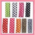 Free shipping!24pcs/lot Polka Dot Silky Headbands  can mix order