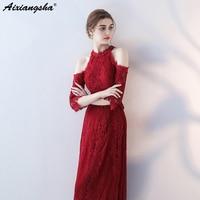 Кружева Bidesmaid платья ботильоны Lengthrobe robe demoiselle d'honneur элегантное платье свадебное платье для гостя Свадебная вечеринка платье