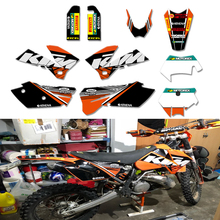 0270 Orange &Black NEW TEAM  GRAPHICS WITH MATCHING BACKGROUNDS FIT FOR SXF MXC SX EXC Series 2005 2006 2007