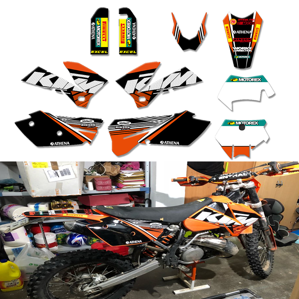 Hot Team Graphics Delcas Stickers For <font><b>KTM</b></font> 125 200 <font><b>250</b></font> 300 350 400 450 525 <font><b>SXF</b></font> MXC SX EXC XC 2005 2006 <font><b>2007</b></font> image