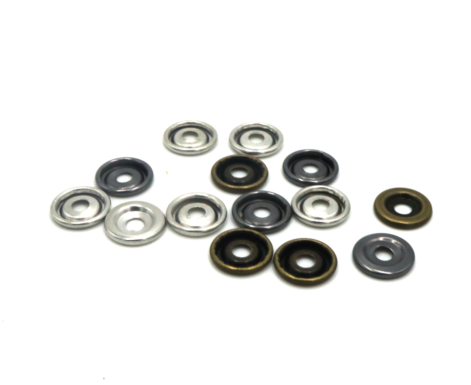 11mm High quality brass material snap button match washer 100pcs