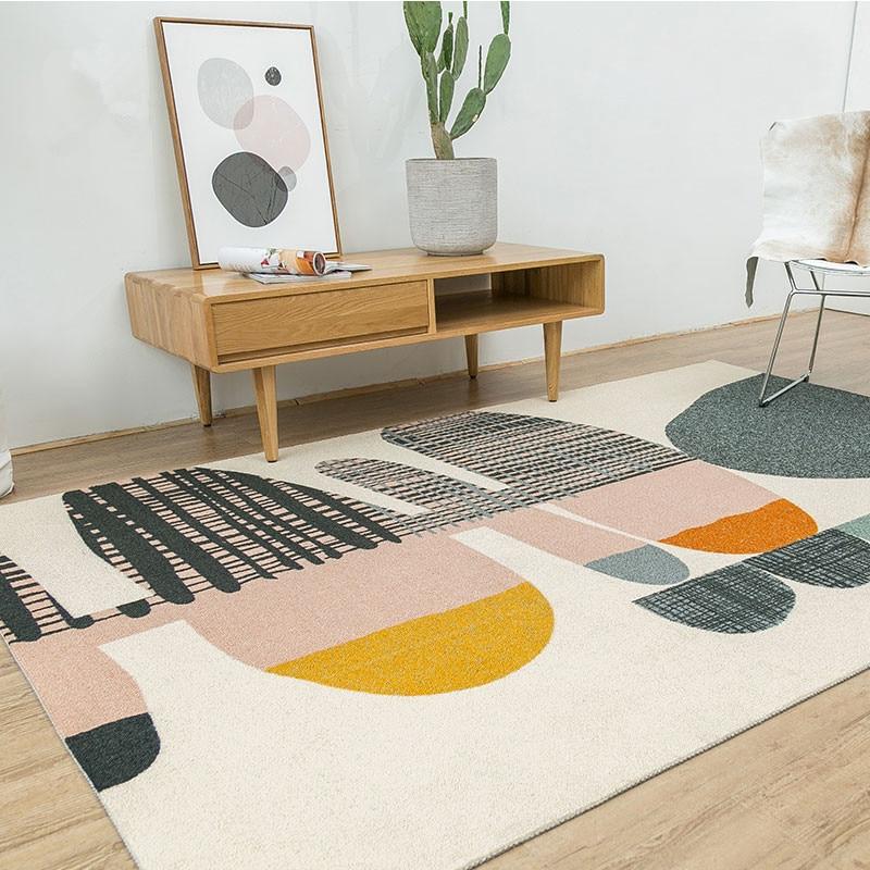 Nordic Denmark Carpet Creative Bedroom Carpet Home Decor Sofa Coffee Table Rug Study Floor Mat Geometric Design Bedside Rugs
