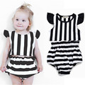 Striped Baby Girl Clothes Summer 2017 New  Cotton Baby Girl Clothing Set Toddlers Infant Baby Clothes T shirt+short Pant