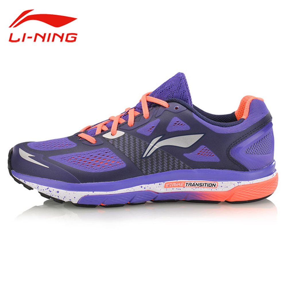 Li-Ning Women's Cushion Running Shoes LiNing Breathable Wearable  Mesh Sneakers Strike Transition Li Ning Sports Shoes ARHM076 original li ning men professional basketball shoes