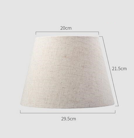 Lamp shade for table Abstract simple solid color Textile Fabrics Decorative E27 table lamp shade bedroom lamp cover