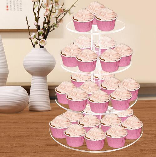 4 Уровня подставка для кекса для торта на день рождения, свадьбу, вечеринку, магазин тортов для дома, горячая новинка, сборка и разборка кругл