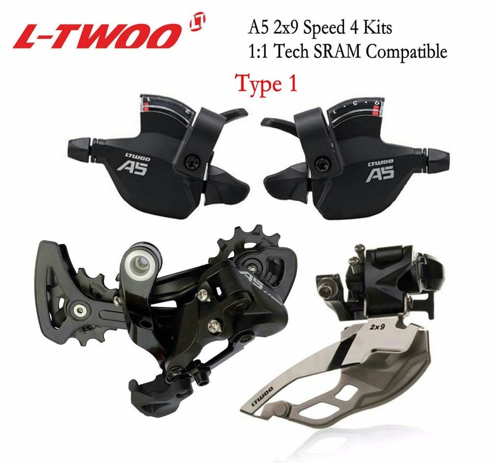 LTWOO A5 2x9 Speed Front Rear Derailleur Trigger Shifter lever groupset for MTB mountain bike Cassette
